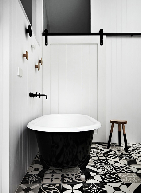 Bathroom | Decor Trend: Black Metal Accessories