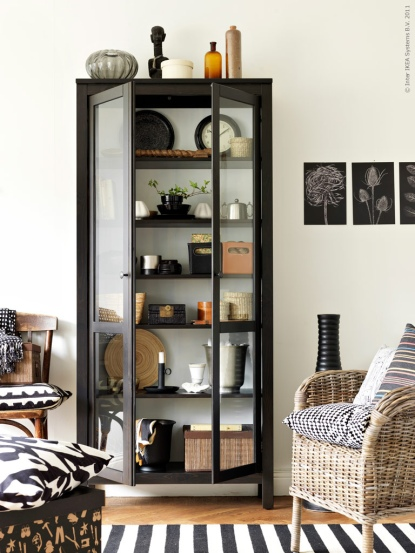 Metal Cabinet | Decor Trend: Black Metal Accessories