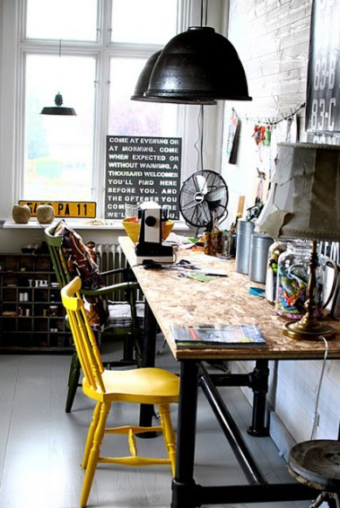 Industrial Workspace | Decor Trend: Black Metal Accessories