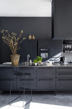 All Black Kitchen | Decor Trend: Black Metal Accessories
