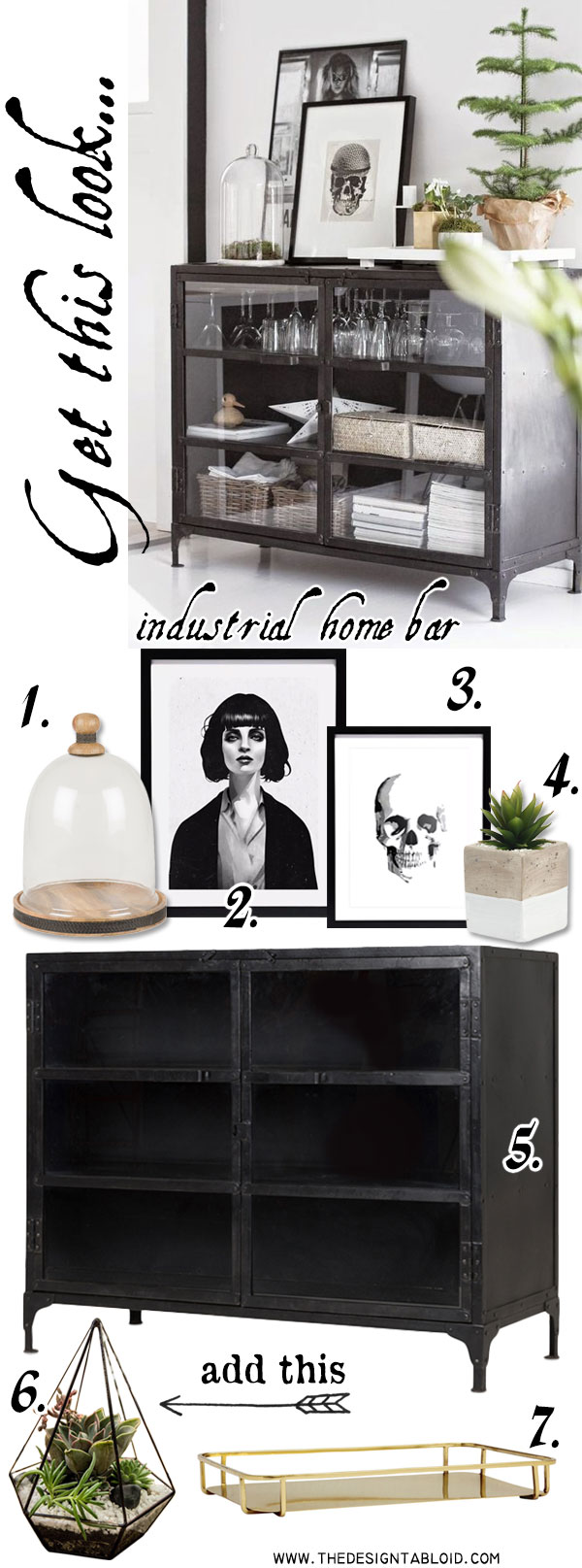 Get The Look: Industrial Home Bar