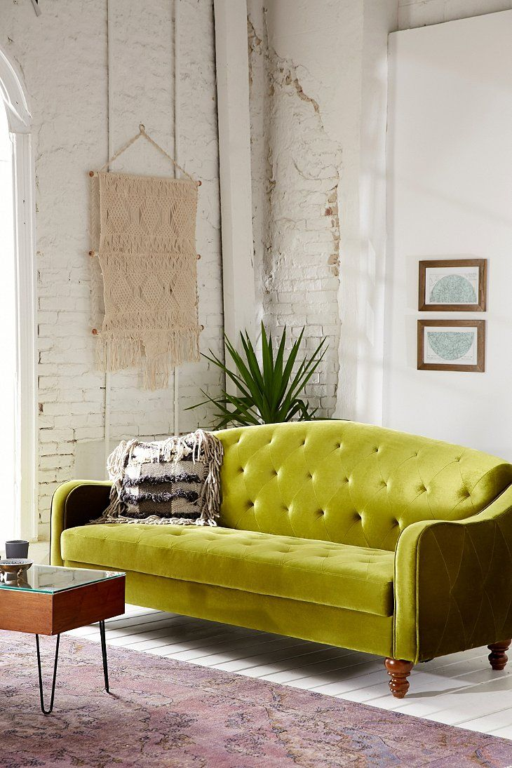 Beau Another Mid Century Modern Inspired Velvet Sofa, This One From Urban  Outfitters. What Would You Call This Colour? Chartreuse? BTW U2013 Can You  Believe This One ...