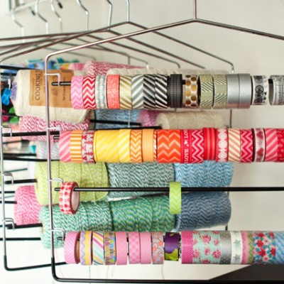 Clothes Hanger Craft Storage - Washi Tape Storage