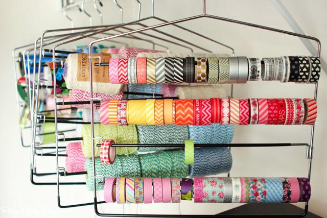 Clothes Hanger Craft Storage - Washi Tape Storage