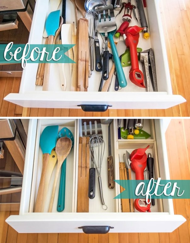 10 Hacks to Organise Your Kitchen: Drawer Organizer