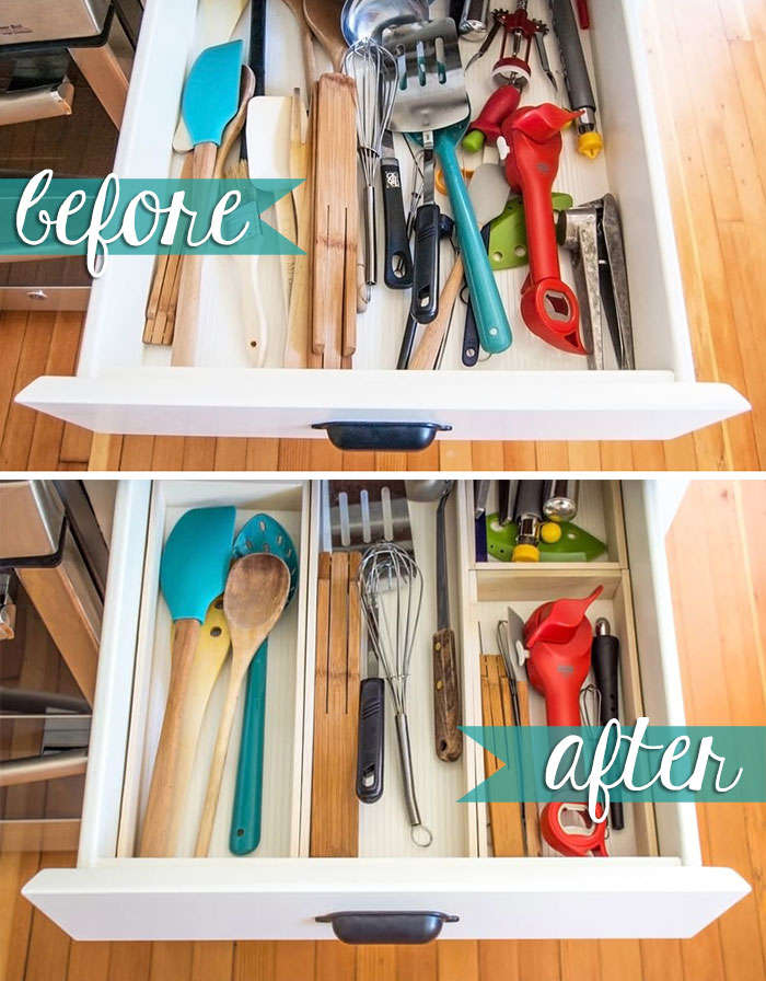 10 Hacks to Organise Your Kitchen: Drawer Organizer