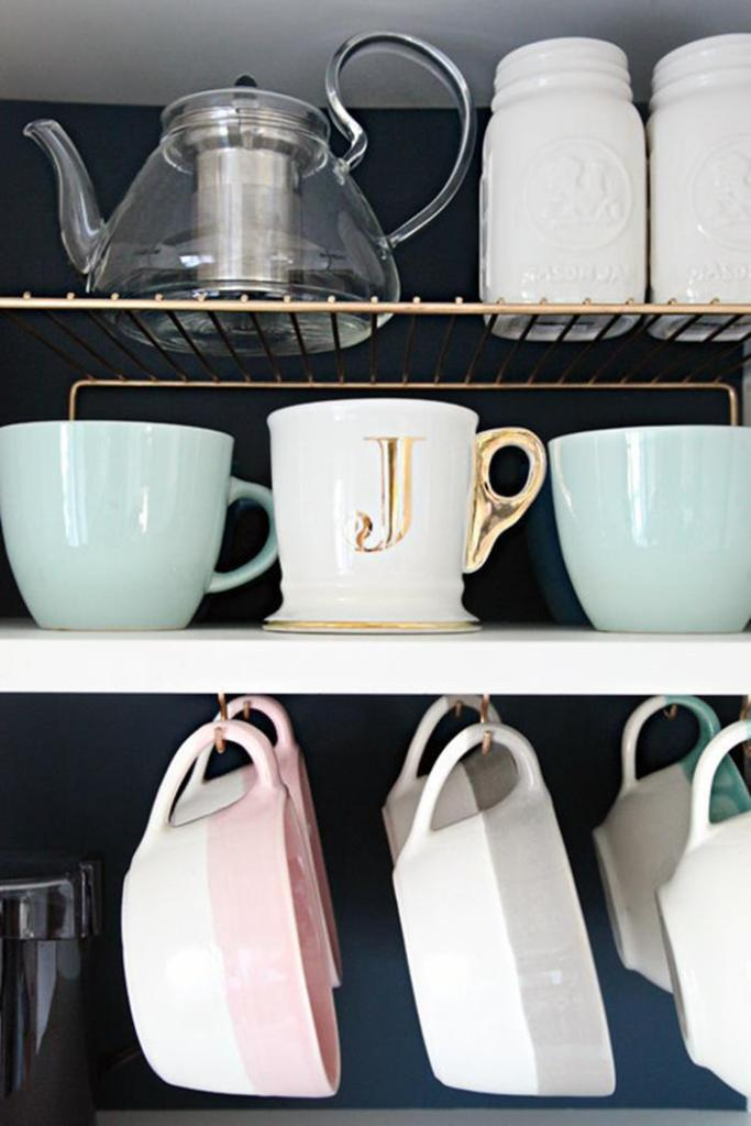 10 Hacks to Organise Your Kitchen: Coffee Cup Hooks