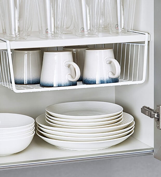 10 Hacks to Organise Your Kitchen: Extra Cabinet Shelves