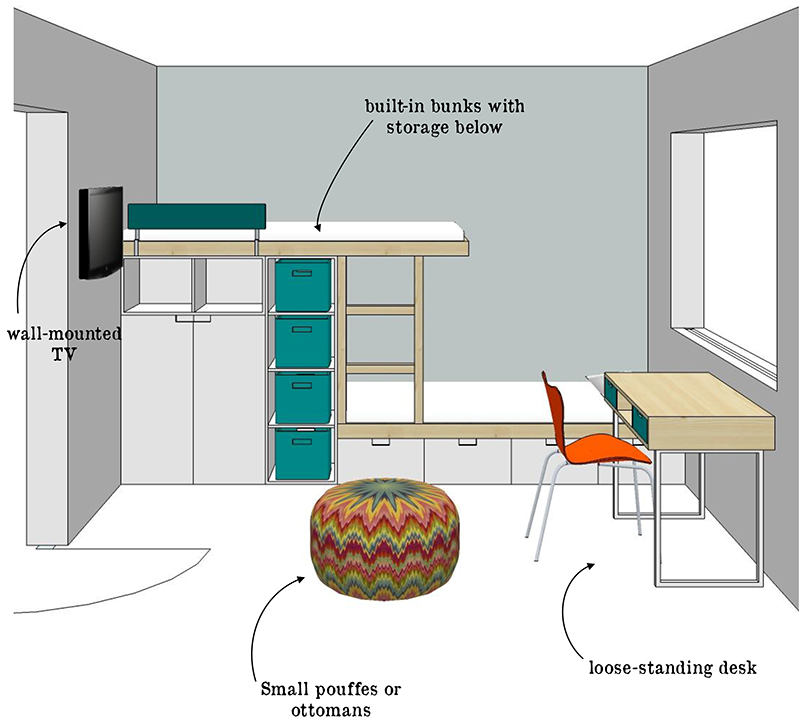 Boys room layout 2 design monarchy the design tabloid for Room design layout templates