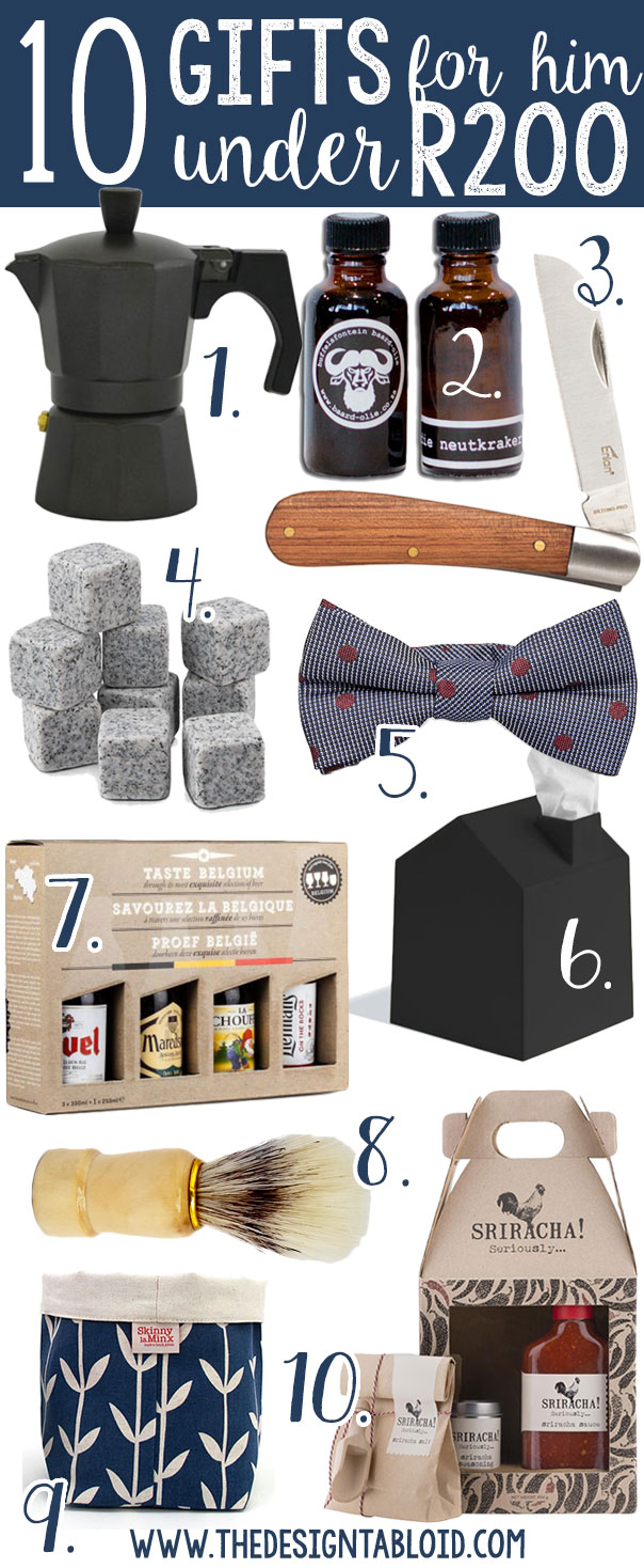 10 Gifts For HIM Under R200