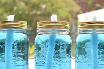 Decor Quick Tip: Mason Glass Jar Candles