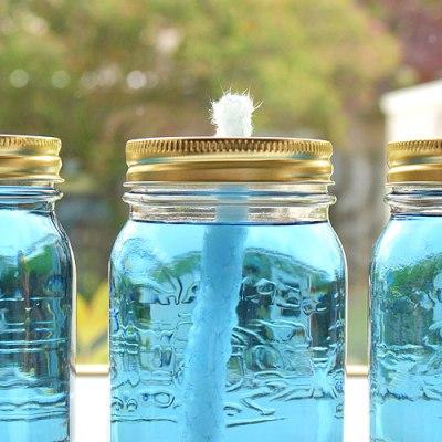Decor Quick Tip: Mason Glass Jar Candles