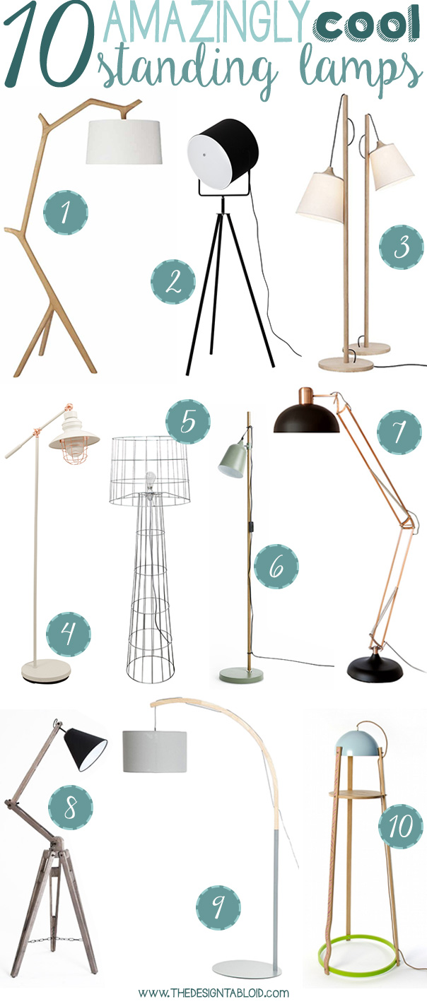 10 Amazingly Cool Standing Lamps | via thedesigntabloid.com