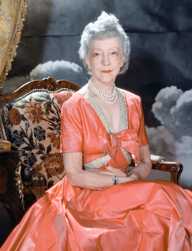 Horst P. Horst photographed Elsie de Wolfe — wearing her signature pearls and a dress by Mainbocher, one of her favorite designers — in 1940 in Vogue's New York studio. (Photo by Horst P. Horst/Vogue, © Condé Nast)