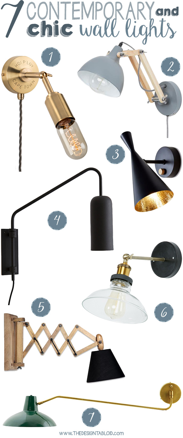 7 Contemporary Chic Wall Lights for Your Home | via The Design Tabloid