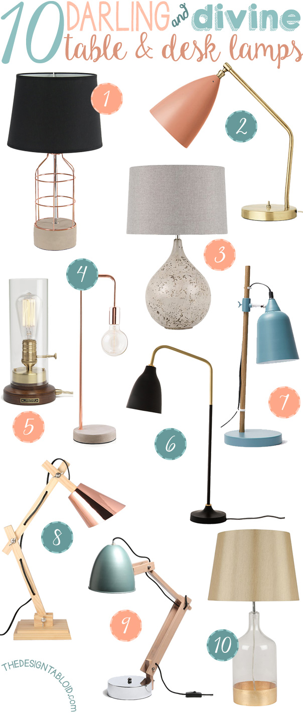 10 Divine Table & Desk Lamps for Your Home | via TheDesignTabloid.com