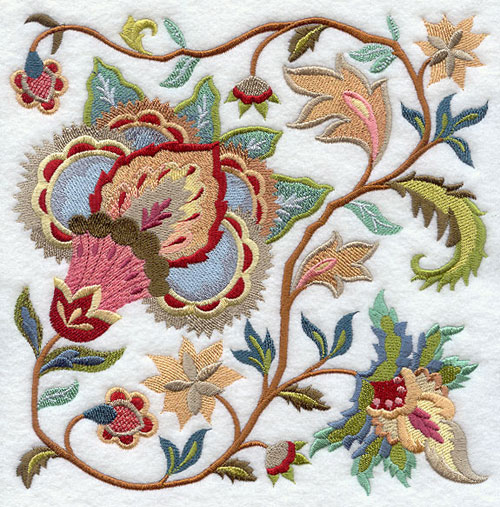 Jacobean Floral Embroidery The Design Tabloid