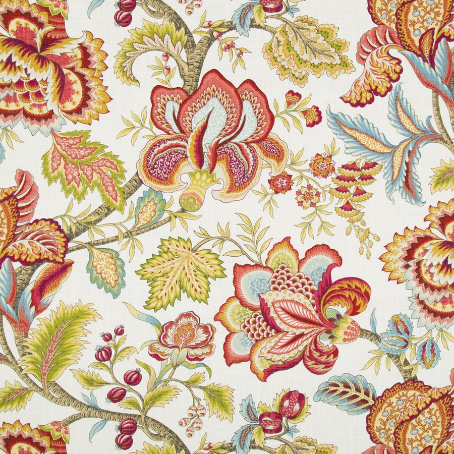 Jacobean Floral Fabric Print The Design Tabloid