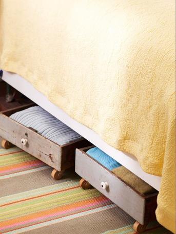 Decorating Quick Tip - Under bed Drawer Storage