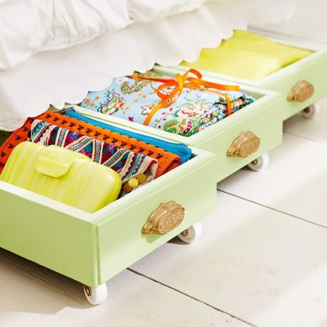 Decorating Quick Tip - Under bed Drawer Storage
