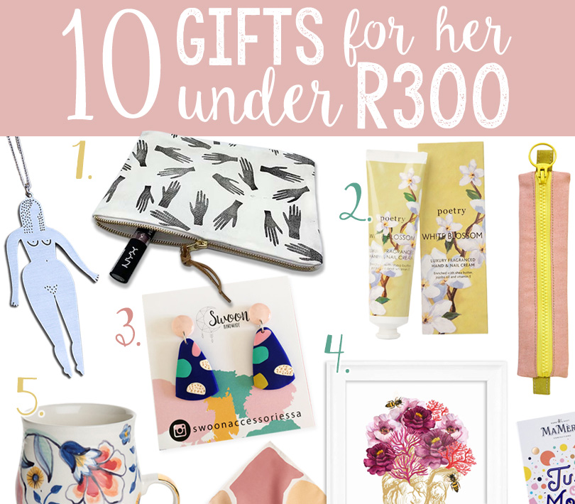 10 Gifts for HER under R300 | via The Design Tabloid