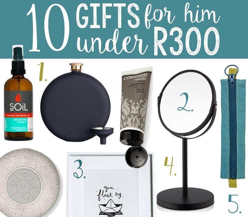 10 Gifts for HIM under R300 | via The Design Tabloid