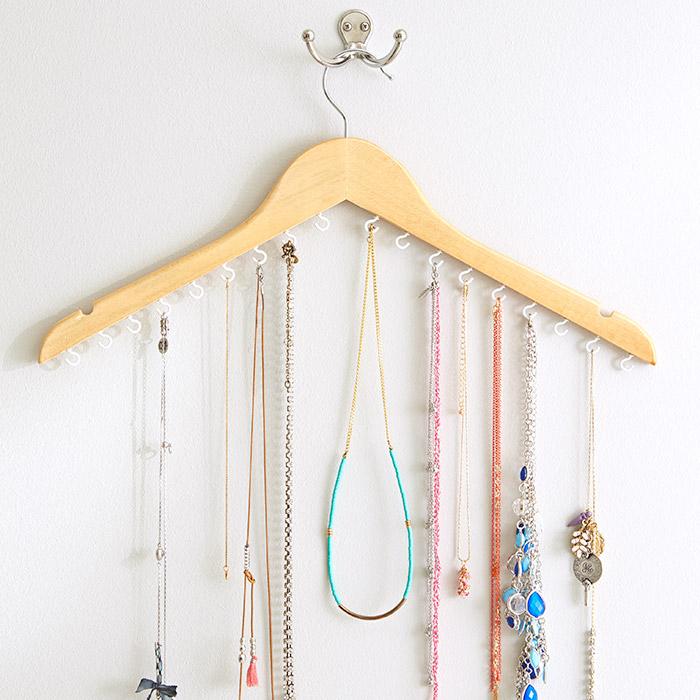 Coat Hanger Jewellery Organizer