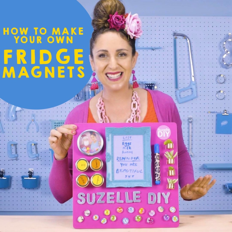 SuzelleDIY: How to Make Your Own Fridge Magnets