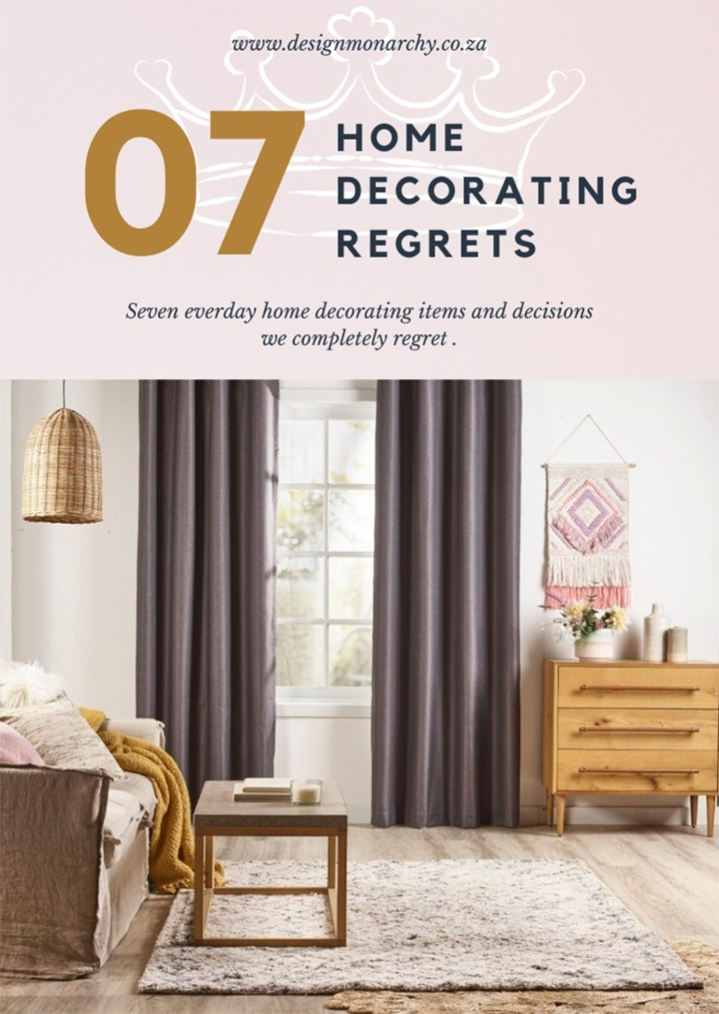 7 Home Decorating Regrets